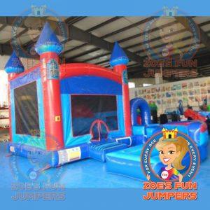 Blue Castle Dry Jumper | Zoe's Fun Jumpers, Escondido, California
