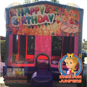 Happy Birthday Dry Jumper | Zoe's Fun Jumpers, Escondido, California