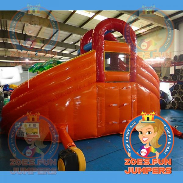 Orange Double Slide | Zoe's Jolly Jumpers, Escondido, California