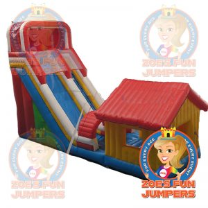 House with Slide Dry Jumper | Zoe's Fun Jumpers, Escondido, California