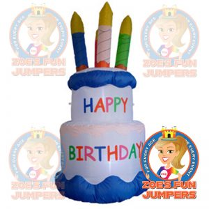 6ft Birthday Cake Inflatable | Zoe's Fun Jumpers, Escondido, CA