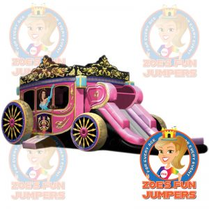 Princess Carriage Dry Jumper | Zoe's Fun Jumpers, Escondido, California