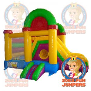 Rainbow Fun Zone Dry Jumper | Zoe's Fun Jumpers, Escondido, California