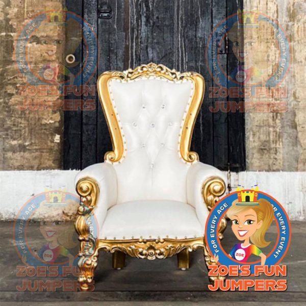 Children's Golden Throne Chair | Zoe's Fun Jumpers